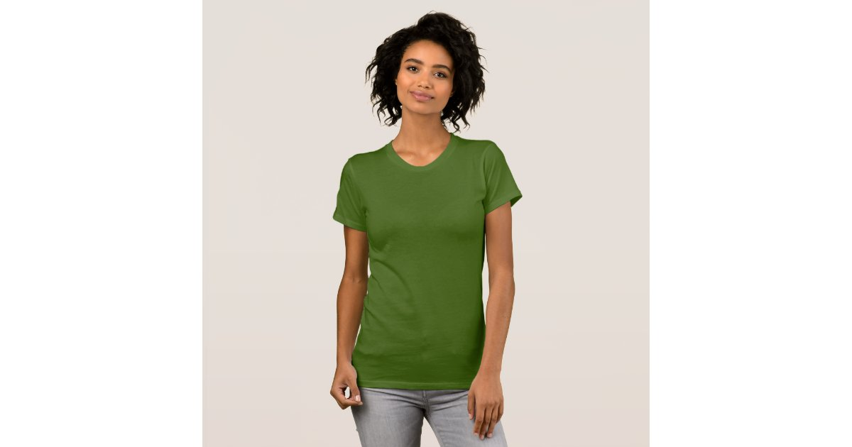 Plain Olive Green T Shirt For Women Ladies Zazzle