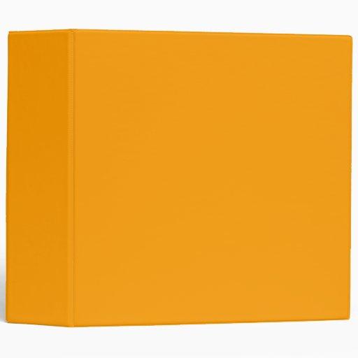 Plain Orange Background. 3 Ring Binder
