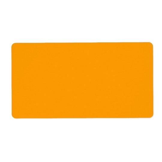 Plain Orange Background. Label