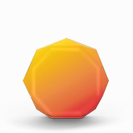 Plain Orange Gold Red Shade Award