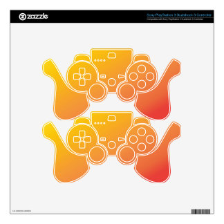 Plain Orange Gold Red Shade PS3 Controller Decals