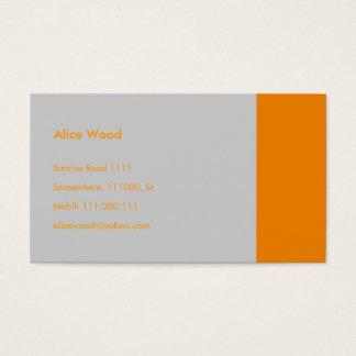 Plain | Orange Gray Business Card