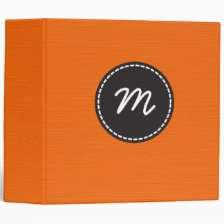 Plain Orange Painted Background 3 Ring Binder