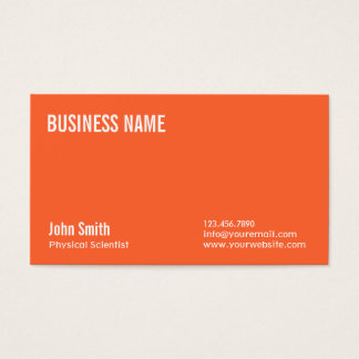Plain Orange Physical Scientist Business Card