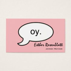 Plain Oy Cloud Jewish Mother Business Card at Zazzle