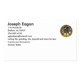 plain pagan business card