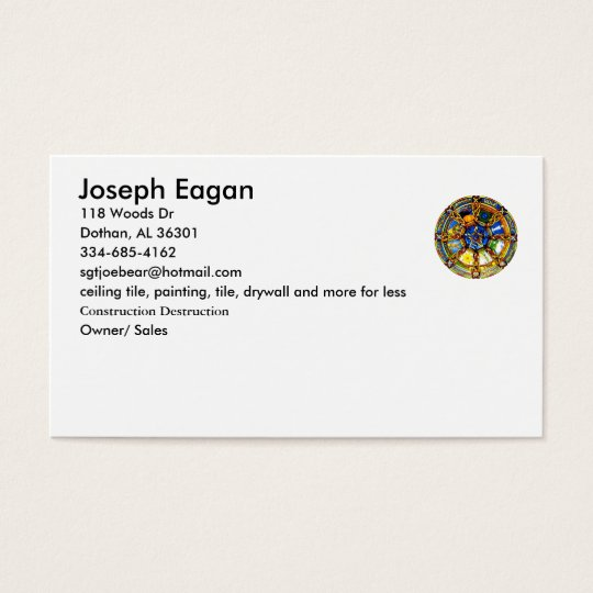 plain pagan business card