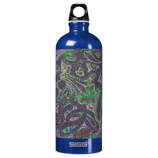 Plain Paisley 2 Aluminum Water Bottle