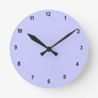 Plain Pale Blue Second Hand Numbered Wall Clock