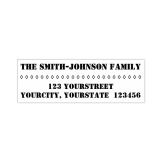 Plain Personalized Family Name + Address Self-inking Stamp