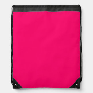 Plain Pink and white Drawstring Backpack. Backpack