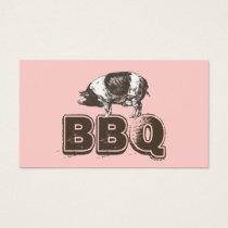 Plain Pink BBQ Pork Business Card