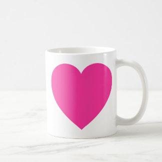 Plain Pink Heart Mug