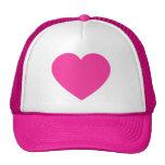 Plain Pink Heart Trucker Hat
