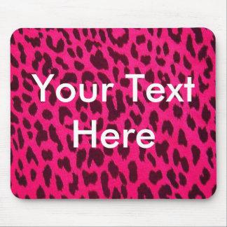 Plain Pink Leopard Print Mousepad