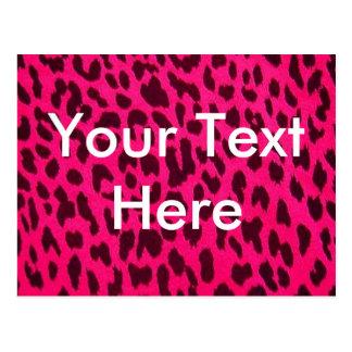 Plain Pink Leopard Print Postcard*
