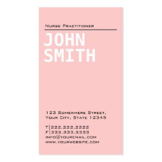 Plain Pink Nurse Practitioner Business Card