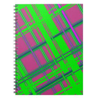 Plain Pink Plaid Spiral Note Books