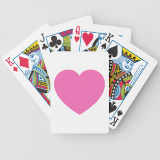 Plain Pink Sweet Heart Bicycle Playing Cards