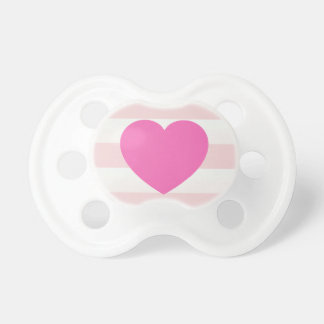 Plain Pink Sweet Heart BooginHead Pacifier