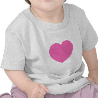 Plain Pink Sweet Heart Tee Shirt