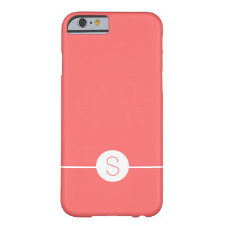 Plain Pink White Monogram - Minimal iOS 8 Style Barely There iPhone 6 Case