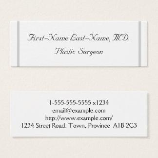Plain Plastic Surgeon Business Card