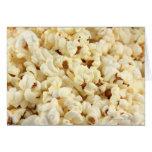 Plain popcorn close up. card