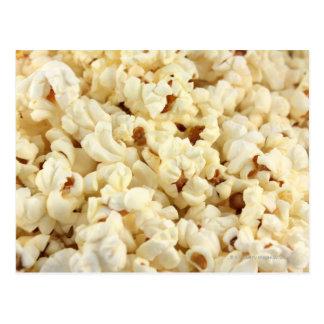 Plain popcorn close up. postcard