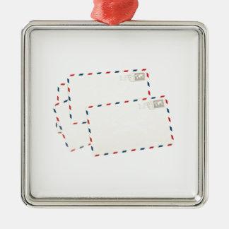 Plain post cards metal ornament