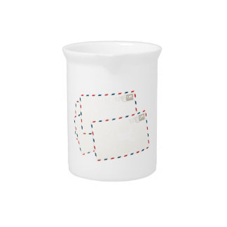 Plain post cards beverage pitchers
