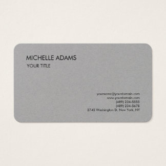 Plain Premium Grey Simple Professional Modern Business Card