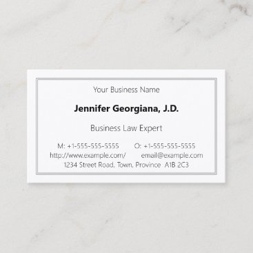 Plain Professional Business Card