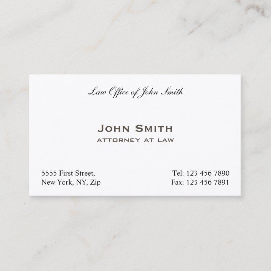 Plain professional elegant attorney law office business card plain professional elegant attorney law office business card reheart Gallery