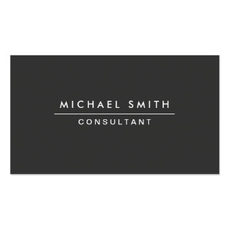 Plain Professional Elegant Black Modern Simple Double-Sided Standard Business Cards (Pack Of 100)