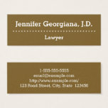 Plain & Professional Lawyer Business Card