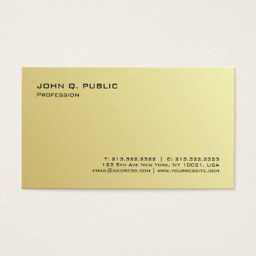 Beach Themed Plain Professional Modern Gold Signature UV Matte Business Card