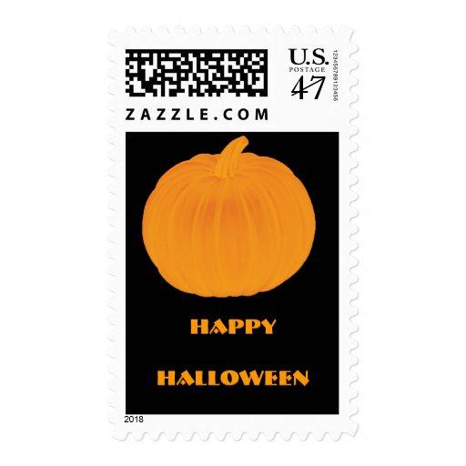 Plain Pumpkin Halloween Stamp