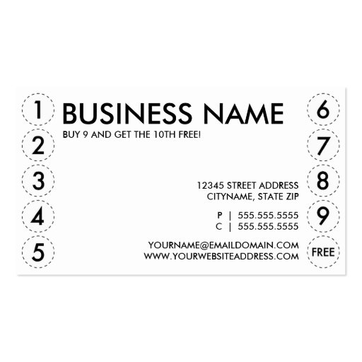 plain punch card