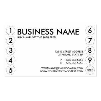 plain punch card Double-Sided standard business cards (Pack of 100)