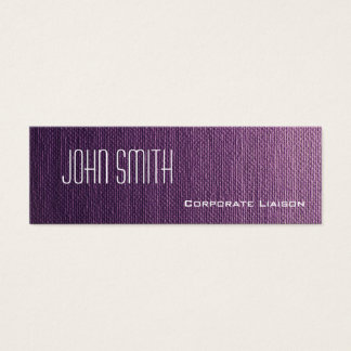 Plain Purple Canvas Slim Modern Business Cards