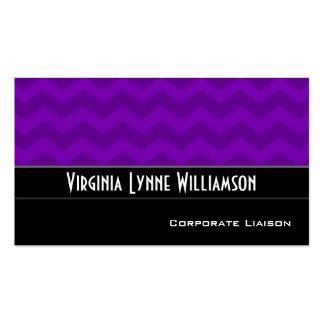 Plain Purple Chevron Modern Business Cards