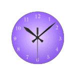 Plain Purple Illuminated Printed Design Wall Clock