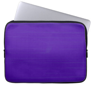 Plain Purple Indigo Background Computer Sleeve