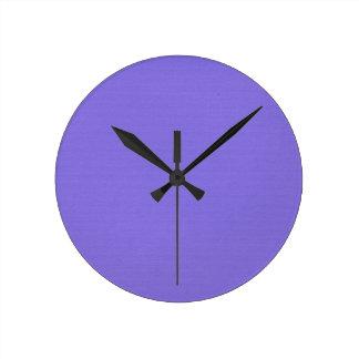 Plain Purple Round Clock