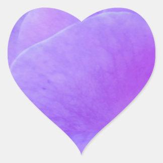 Plain PURPLE shades  Flower Petal Heart Sticker