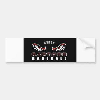 Plain Raptors bumper sticker