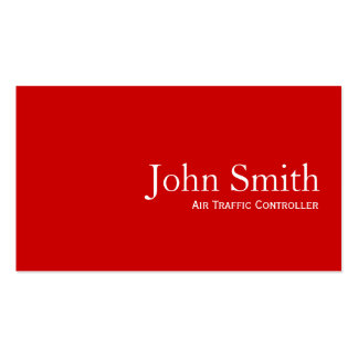Plain Red Air Traffic Controller Business Card