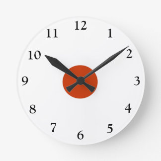 Plain Red and White > Popular Kitchen Wall Clock