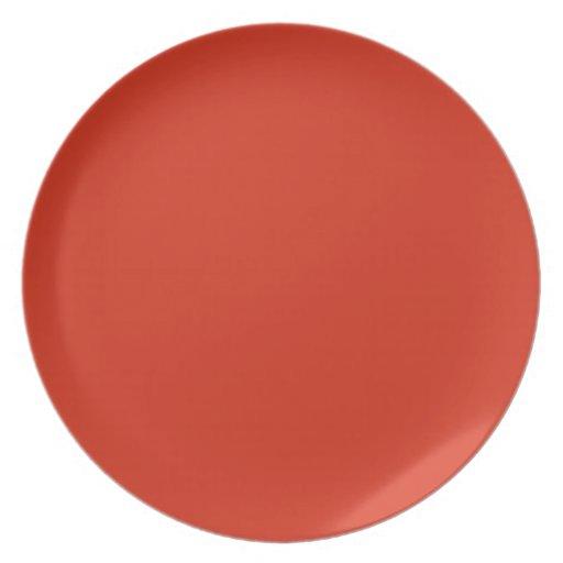 Plain Red Background. Dinner Plates